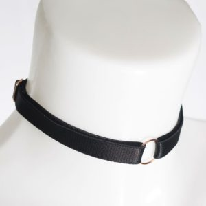 on a leash choker
